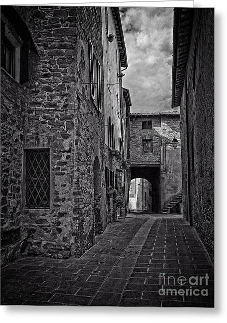 Old Roadway Greeting Cards - Panicale 2 Greeting Card by Paul Woodford