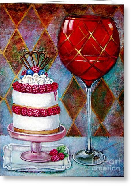Panna Cotta Ice Cream Sandwich Greeting Card by Geraldine Arata