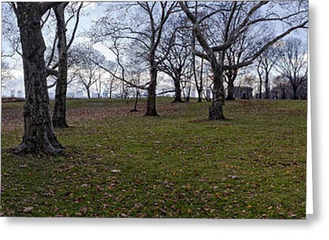 Fall Panorama Greeting Cards - Panorama Central Park Greeting Card by Robert Ullmann