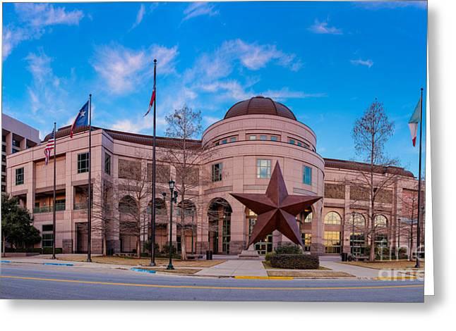 Art Exhibit Greeting Cards - Panorama of Bob Bullock Museum of Texas History - Austin Texas Greeting Card by Silvio Ligutti