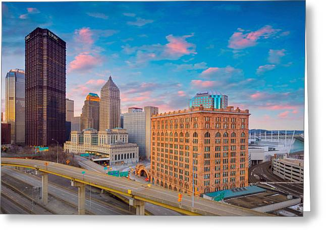Panorama Of Pittsburgh  Greeting Card by Emmanuel Panagiotakis