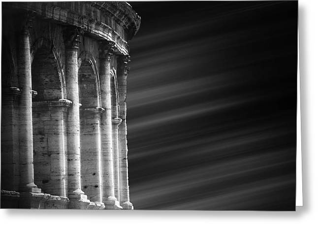 Panorama Of Roma Greeting Card by Stefano Senise