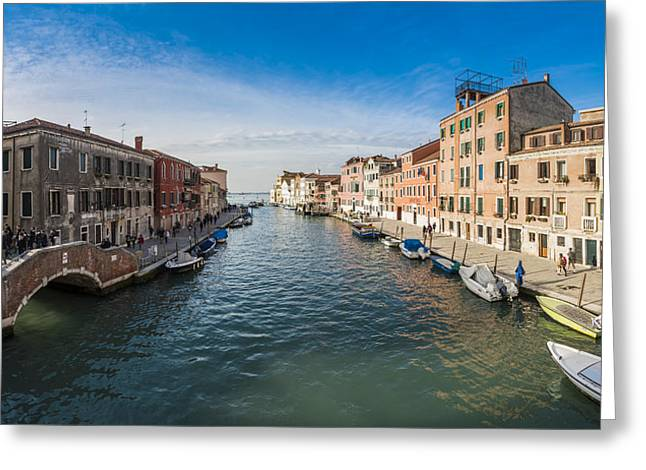 Famous Bridge Greeting Cards - Panorama of Venice Greeting Card by Riccardo Zimmitti