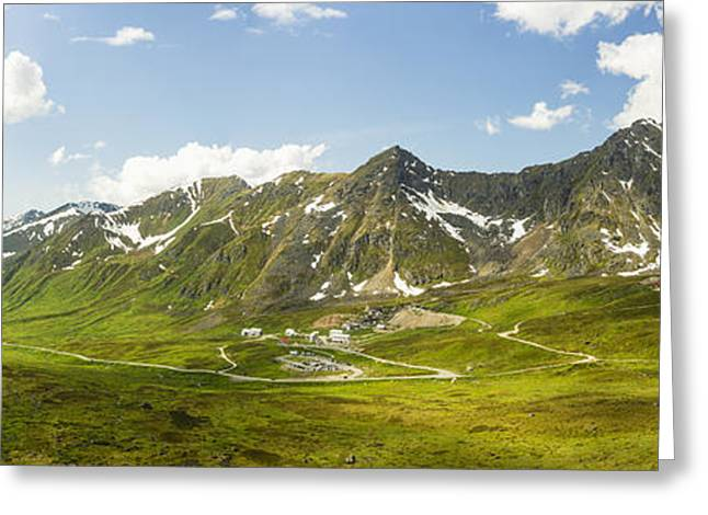 Southcentral Alaska Greeting Cards - Panorama View Of Independence Mine Greeting Card by Ray Bulson