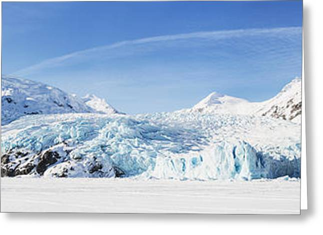 Panorama View Of The Portage Glacier Greeting Card by Ray Bulson