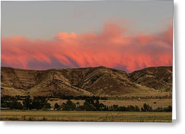 Panoramic Afterglow Greeting Card by Robert Bales