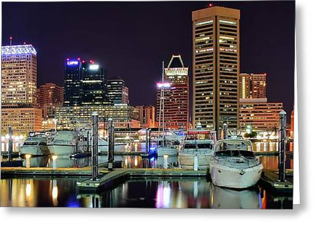 Panoramic Baltimore Greeting Card by Frozen in Time Fine Art Photography