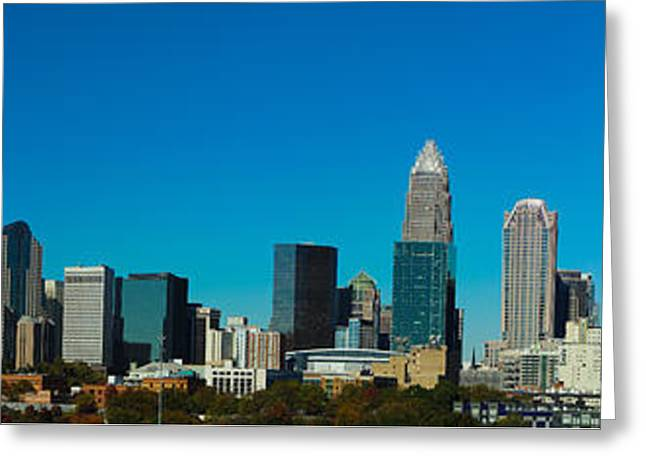 Charlotte Digital Greeting Cards - Panoramic Charlotte Greeting Card by Fred Koehl