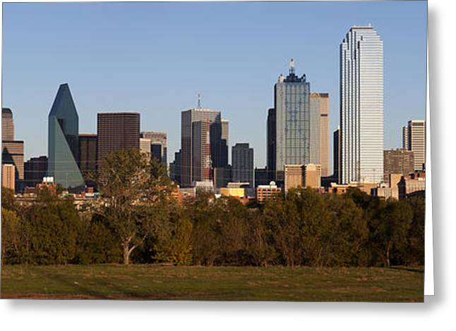 Metroplex Office Greeting Cards - Panoramic - Dallas Texas Greeting Card by Anthony Totah