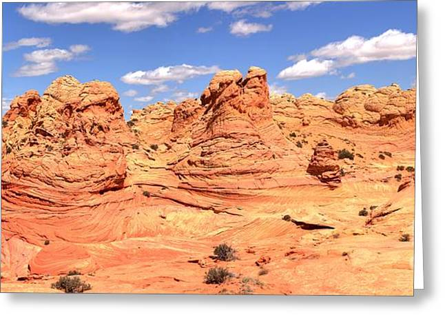 Surreal Landscape Photographs Greeting Cards - Panoramic Desert Landscape Fantasyland Greeting Card by Adam Jewell