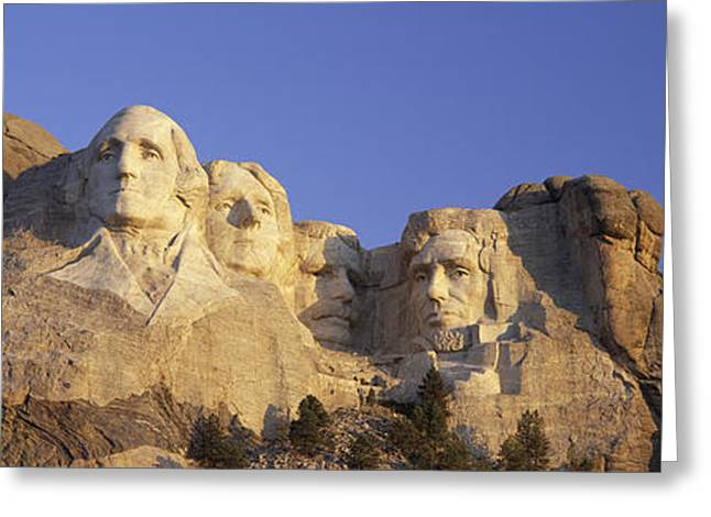 Panoramic Sunrise View On Presidents Greeting Card by Panoramic Images