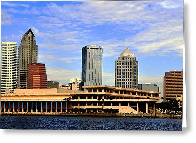 Convention Greeting Cards - Panoramic Tampa Greeting Card by David Lee Thompson