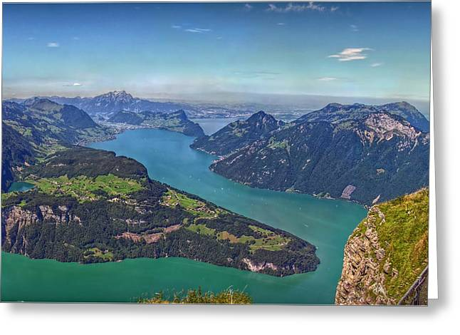 Outlook Greeting Cards - Panoramic view from Vis-a-Vis Greeting Card by Hanny Heim