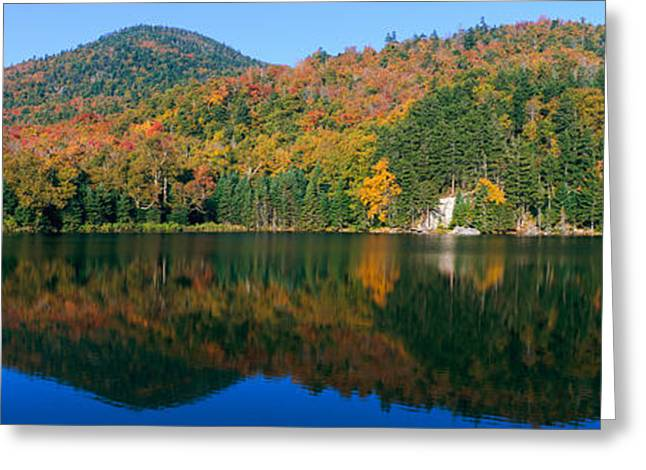 Panoramic View Of Crawford Notch State Greeting Card by Panoramic Images