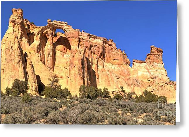 Ventana Greeting Cards - Panoramic View Of Grosvenor Arch Greeting Card by Adam Jewell