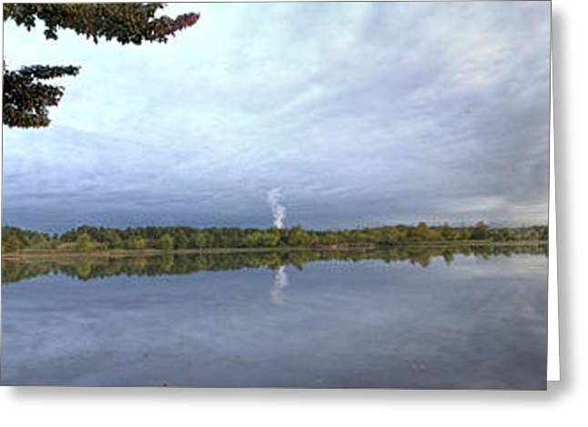 Historic Home Greeting Cards - Panoramic view of Kednnedy Park Sayreville NJ Greeting Card by Geraldine Scull