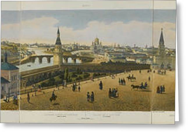 Coloured Greeting Cards - Panoramic view of St. Petersburg Greeting Card by Celestial Images