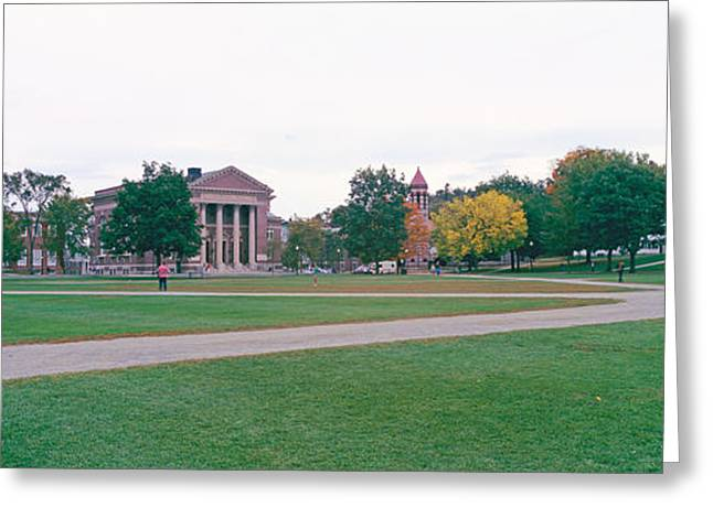 College Buildings Images Greeting Cards - Panoramic View Of The Campus Greeting Card by Panoramic Images