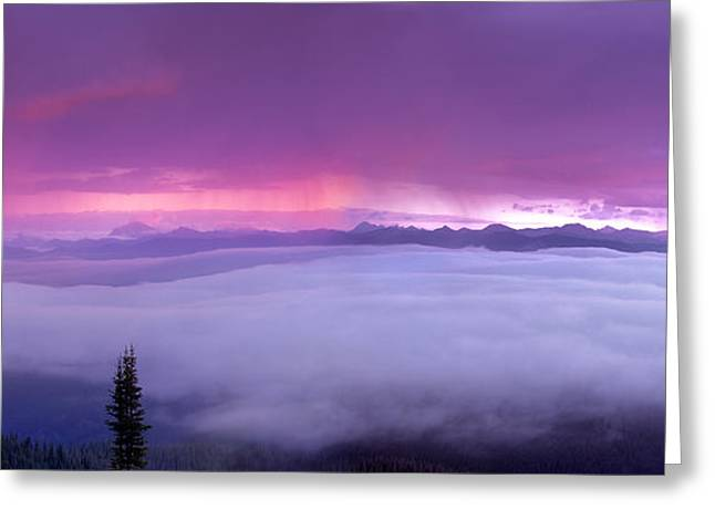 Panoramic Wilderness Greeting Card by Leland D Howard