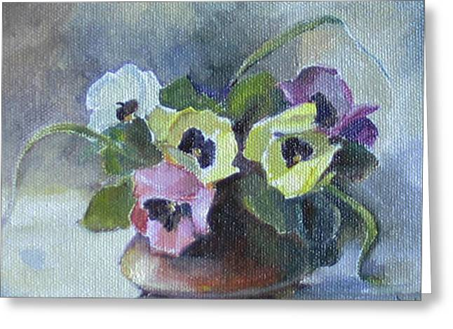 Couple Greeting Cards - Pansies Greeting Card by Tigran Ghulyan