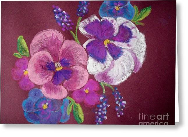 Spring Pastels Greeting Cards - Pansy Grandeur Greeting Card by Sandra McClure
