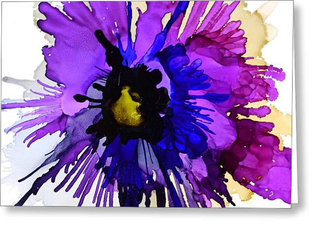 Pansy Punch Greeting Card by Marla Beyer
