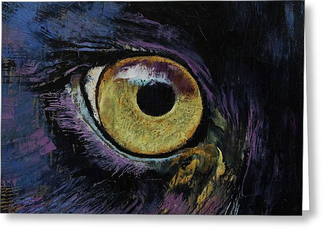 Panther Eye Greeting Card by Michael Creese