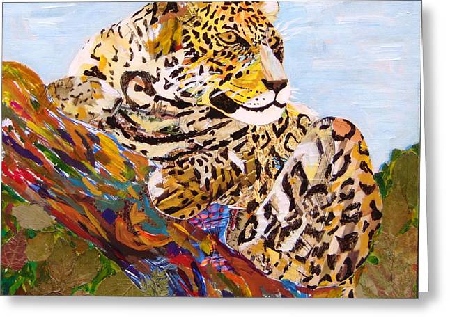 Jaguars Greeting Cards - Panthera onca Jaguar Greeting Card by Arturo Laime