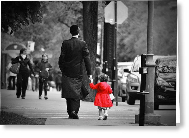 Outremont Greeting Cards - Papa Greeting Card by Dan Elk