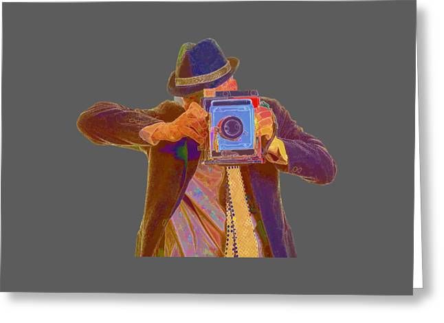 Tees Greeting Cards - Paparazzi Tee Greeting Card by Edward Fielding