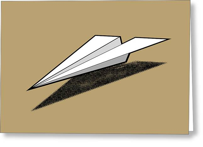 Aero Greeting Cards - Paper Airplane 2 Greeting Card by Yo Pedro