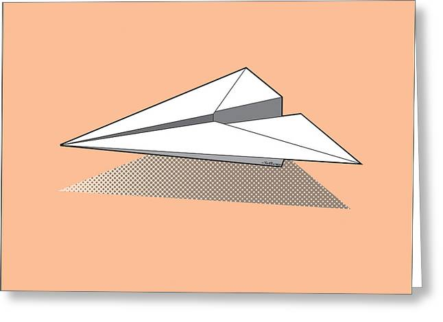 Aero Greeting Cards - Paper Airplane 3 Greeting Card by Yo Pedro