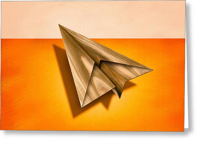 Paper Airplanes Of Wood 18 Greeting Card by YoPedro