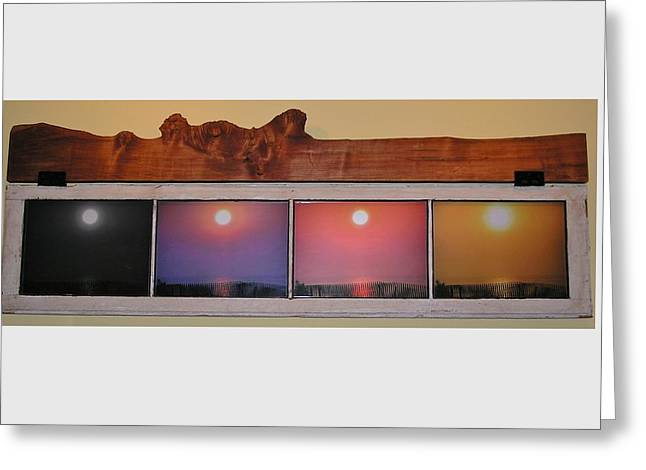 Sunrise Sculptures Greeting Cards - Paper Sun Greeting Card by John Wartman