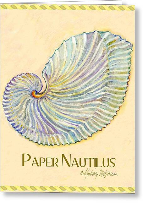 Labelled Greeting Cards - Paper Nautilus Greeting Card by Kimberly McSparran