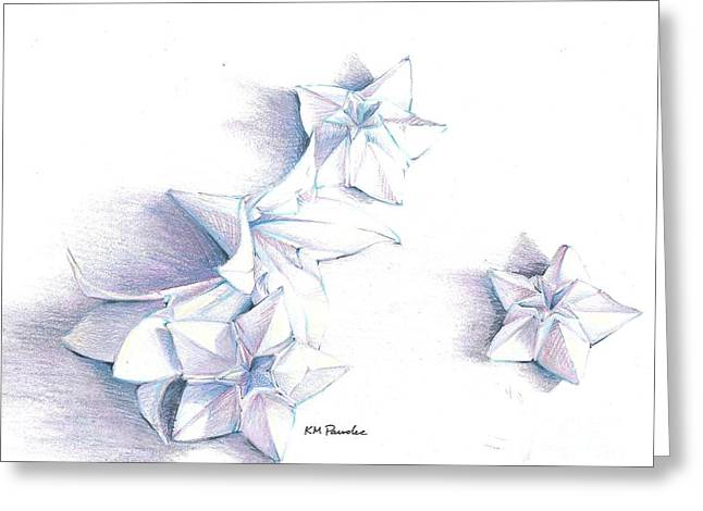 Quite Drawings Greeting Cards - Paper petals Greeting Card by K M Pawelec