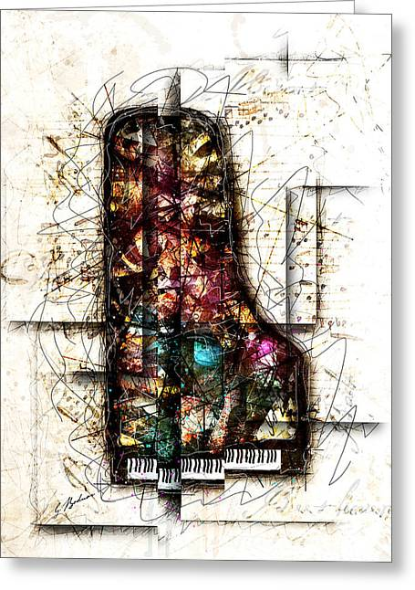 Piano Digital Art Greeting Cards - Concerto I Greeting Card by Gary Bodnar