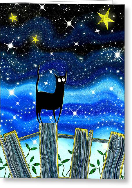 Twinkle Greeting Cards - Paper Stars Greeting Card by Andrew Hitchen