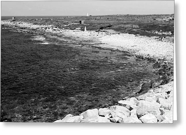 Cypriotic Greeting Cards - Paphos Beach Greeting Card by John Rizzuto