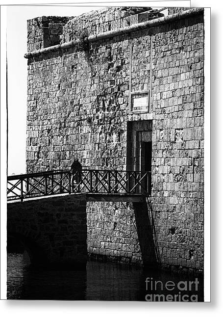 Byzantine Greeting Cards - Paphos Castle Greeting Card by John Rizzuto
