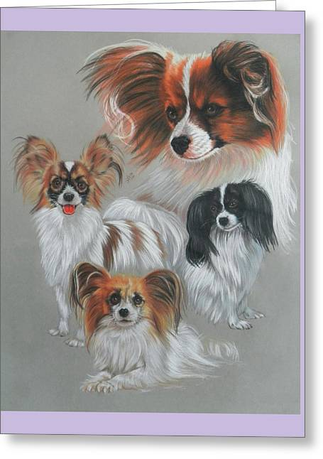 Toy Dog Greeting Cards - Papillion Greeting Card by Barbara Keith