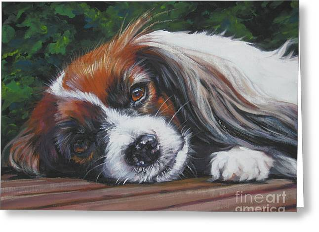 Papillon Dog Greeting Cards - Papillon phalene Greeting Card by Lee Ann Shepard