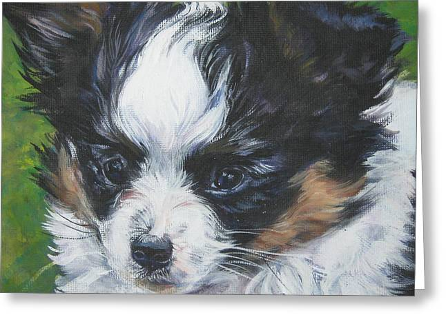 Papillon Dog Greeting Cards - Papillon Pup Greeting Card by Lee Ann Shepard