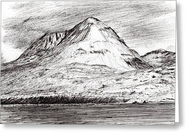 The Hills Drawings Greeting Cards - Paps of Jura Greeting Card by Vincent Alexander Booth