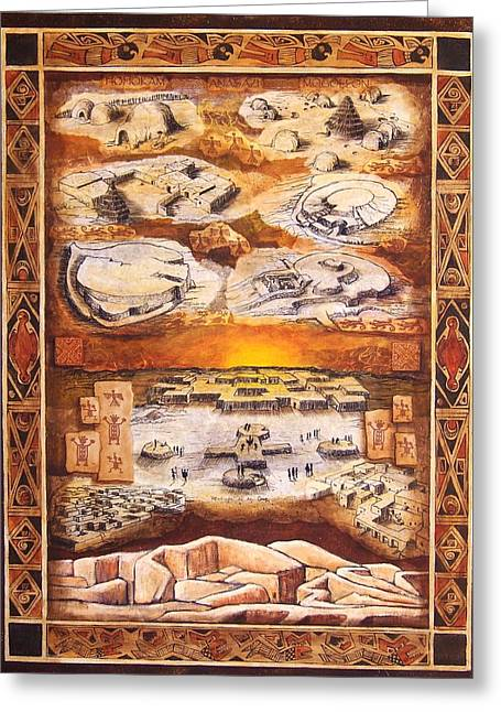 Indian Ruins Greeting Cards - Paquime Throughout Time Greeting Card by Candy Mayer