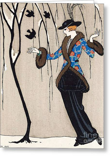 Apparel Greeting Cards - Paquin Dress, George Barbier Greeting Card by Science Source