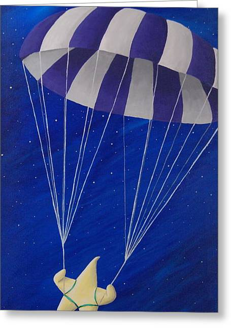 Night Scenes Greeting Cards - Para-Shooting Star Greeting Card by Kerri Ertman