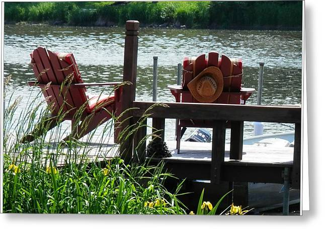 Adirondak Chair Greeting Cards - Paradise Found Greeting Card by Deborah Kunesh