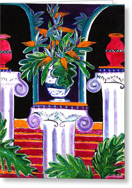 Interior Still Life Paintings Greeting Cards - Paradise Found Greeting Card by Linda Holt
