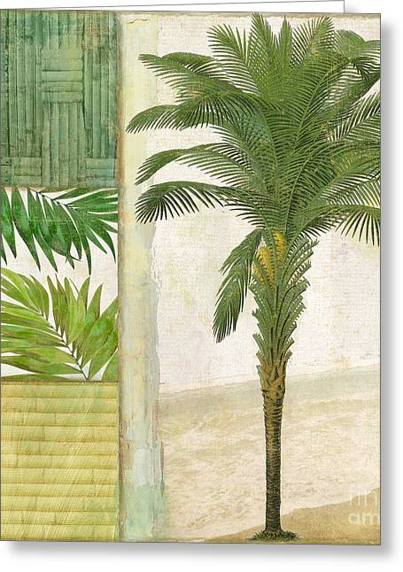 Coconut Trees Greeting Cards - Paradise I Greeting Card by Mindy Sommers